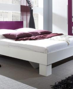 Bílá manželská postel s nočními stolky Veria bl