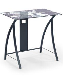 PC stůl se skleněnou deskou Alvan