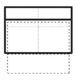 Střední dvoumístný spojovací díl s úložným prostorem a posuvnou funkcí opěradel Tiffany Š 136 cm x V 100 cm x H 92 cm