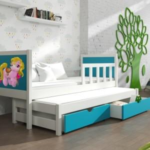 Barevná dětská postel s přistýlkou Evita 25