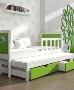 Jednolůžková dětská postel s přistýlkou Evita 27