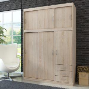 Šatní skříň s posuvnými dveřmi Saima