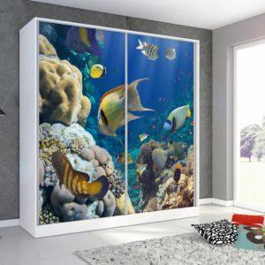 Šatní skříň s motivem moře Monela 2