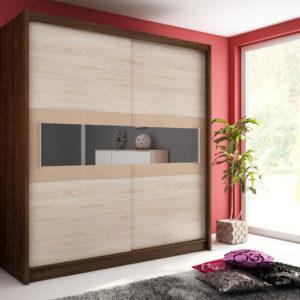 Šatní skříň s posuvnými dveřmi Medeila 5