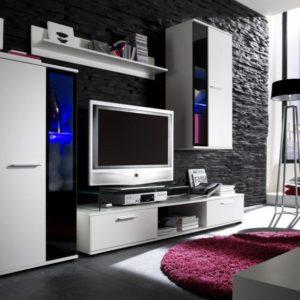 Bílá obývací stěna Sigma 3