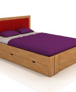 Buková manželská postel Toril 6 s úložným prostorem