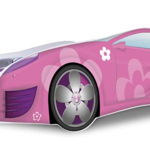 Dívčí postel Auto růžová