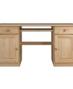 Dřevěný psací stůl Sampo s výsuvnou deskou na klávesnici
