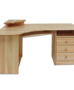 Dřevěný rohový psací / počítačový stůl Tero