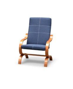 Designově prošívané křeslo Simondo v modré barvě