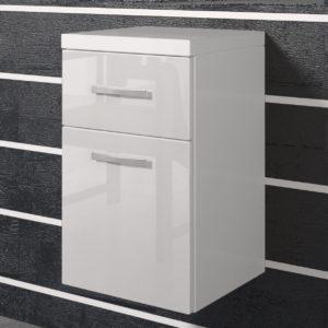 Dolní koupelnová skříňka Horace bílá / bílý lesk