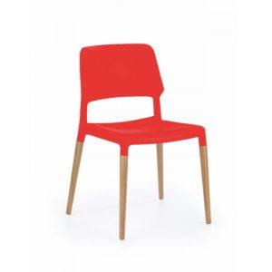 Jídelní židle Kezia - červená