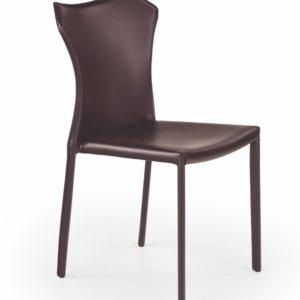 Jídelní židle Nusi - tmavě hnědá