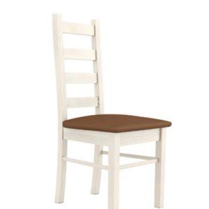 Jídelní židle s polstrovaným sedákem Meryl - borovice nordic