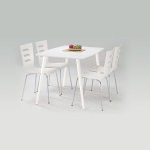Jídelní stůl Neal - bílý mat