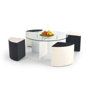 Konferenční stolek s taburety Matai