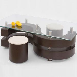 Konferenční stolek s taburety Ronen 2
