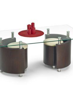 Konferenční stolek s taburety Simao 2