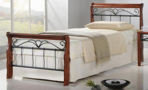 Kovová jednolůžková postel Tasia 1