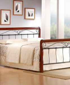 Kovová manželská postel Tasia 3