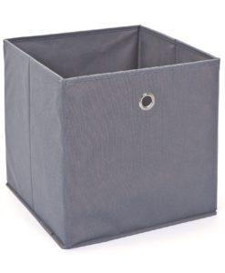 Látkový úložný box Heli 10 - šedý