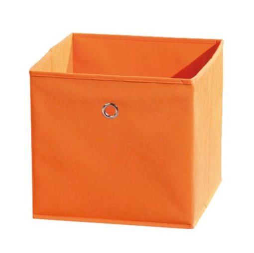 Látkový úložný box Heli 8 - oranžový