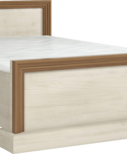Manželská postel Meryl - borovice nordic + dub divoký
