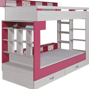 Patrová postel s policemi Adéla 1
