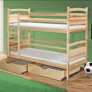 Patrová postel z masivu Paolo 1