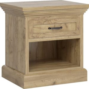 Rustikální noční stolek Meryl - dub kraft