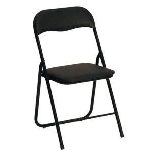 Skládací židle Ivria - černá