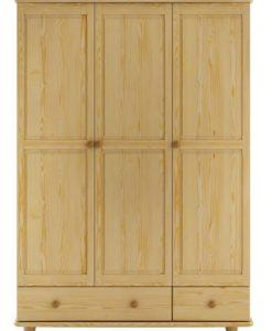Třídveřová šatní skříň Bertil