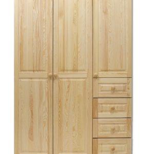 Velká dřevěná šatní skříň Amani