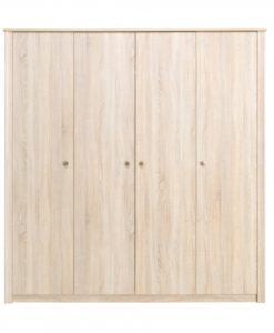 Čtyřdveřová šatní skříň Filip 1