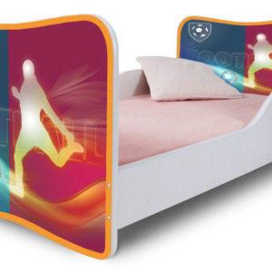 Dětská jednolůžková postel s motivem Fotbal - klub 1