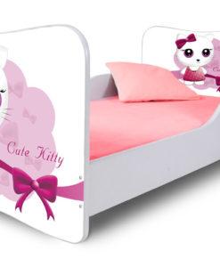 Dětská postel Cute Kitty růžová