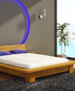 Dřevěná postel s nočními stolky Turid