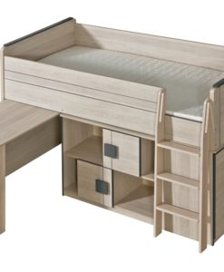 Jednolůžková postel s výsuvným pultem Allarica 4