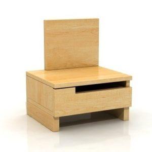 Noční stolek Daga 1 z masivu borovice - levý